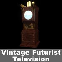 vintage futuristic television 3d model