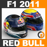 F1 2011 Sebastian Vettel and Mark Webber Helmet
