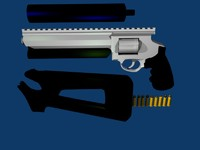 rifle pistol revolver 3d model