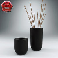 Blackened Planters