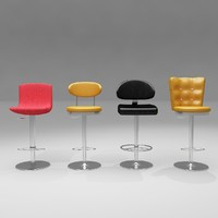 3d casino stools model