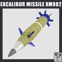 excalibur missile xm 982 3d model