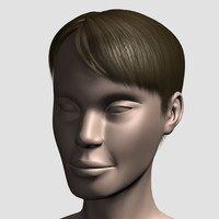 3ds max hair character mesh