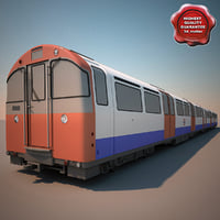 3d obj realistic london underground train