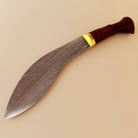 gurkha army knife khukri 3d model