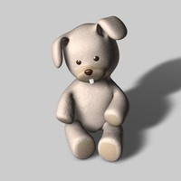 3d toy rabbit model
