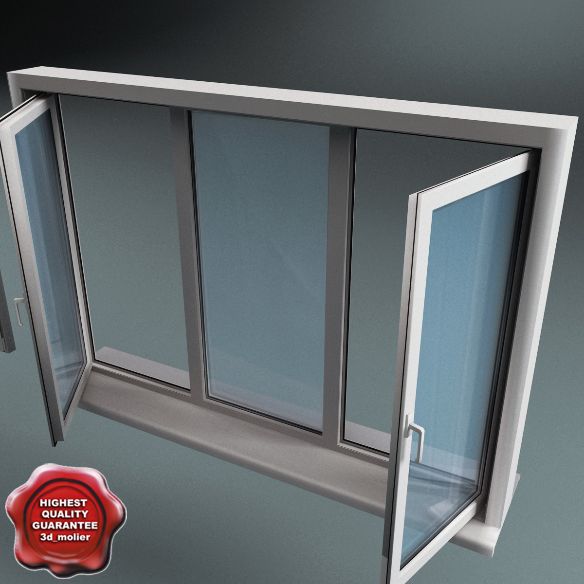 Plastic window v3 3d model for Window 3d model