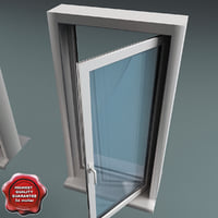 plastic window v4 3d max