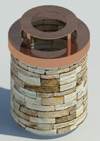 3ds max stone trashcan