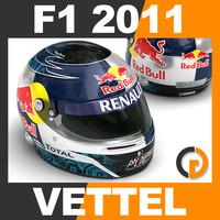 F1 2011 Sebastian Vettel Helmet