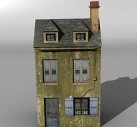 3d derelict city building