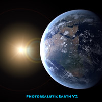 photorealistic planet earth 3d max