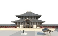 todaiji temple nara japan 3ds