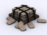 Pallet with bags