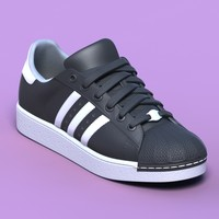 excellent black sports shoes 3d model