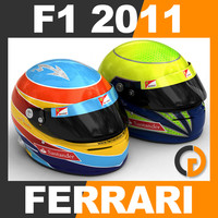 F1 2011 Fernando Alonso and Felipe Massa Helmet