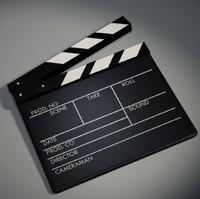 3d clapboard film slate