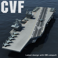 cvf aircraft carrier catapult 3d model