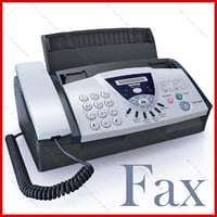fax machine brother fax-575 3d model