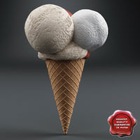 ice cream v7 3d 3ds