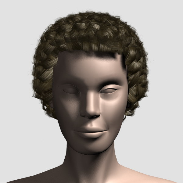 3d model hair character mesh - Hair_Mesh_07... by 3dMag