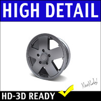 jeep rim wheel 3d 3ds