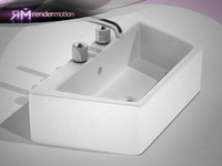 D3.C1.07 asymmetric Sink-Lavamanos asimetrico