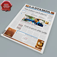 newspaper modelled 3d model
