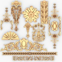 classical decoration interior 3d 3ds