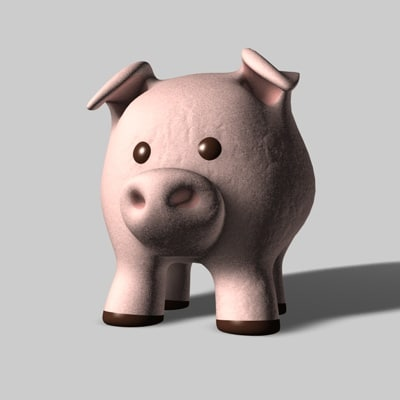 3ds max toy pig