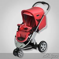 3d model baby pram 1