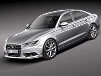 3d audi a6 2012 sedan model