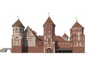 3d castle complex belarus mir model