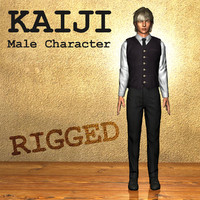 kaiji male character human 3d model