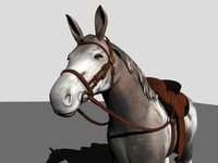 maya polygonal mule horse