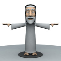 3d model old arab man