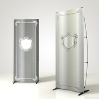 Penguin Banner Stand