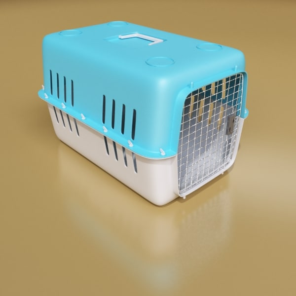 3d Pet Transport Box Model