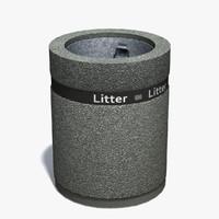 3d realistic concrete bin model
