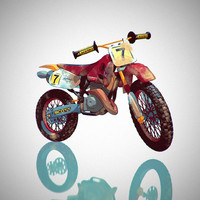 maya cartoon rigged bike