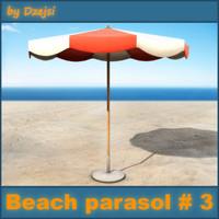 3ds beach parasol