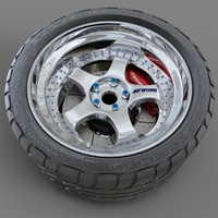 3d cars work meister tires model