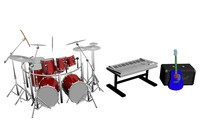 band equipment 3d max