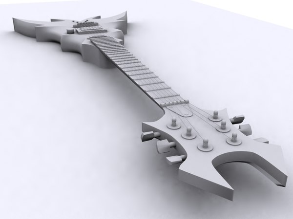 3d bc rich draco guitar - BC Rich Draco Guitar... by saturated_snail
