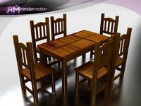c2 s2 parana dining-comedor 3d max