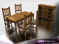 3d max c2 s5 yucatan dining-comedor