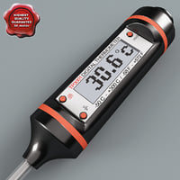 3d model digital cooking thermometer tp3001