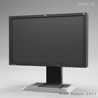 maya hp lp2475w monitor