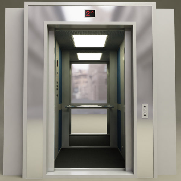 Interior Door Lifts : Lift interior v doors d model