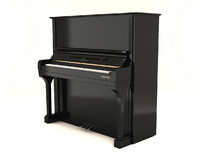 3d model of bechstein upright piano